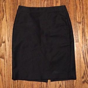 J. Crew Black No. 2 Pencil Skirt Cotton 2